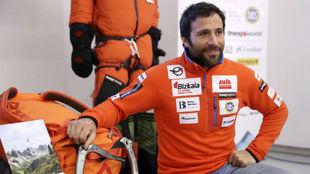 Alex Txikon, en la presentación de la expedición.