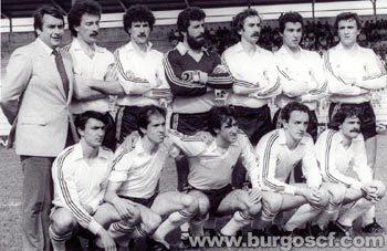 Once inicial del Burgos para un partido en los años 70