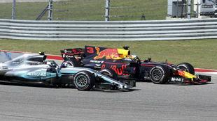 Ricciardo y Bottas, emparejados en un GP de esta temporada.