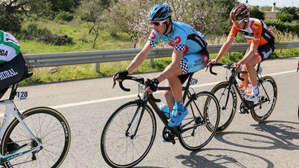 Xuban Errazkin, escapado en la Vuelta al Algarve 2017.