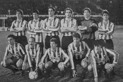 Once del Logroñés en 1990