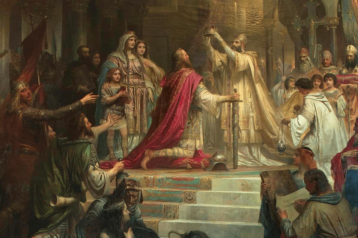 Resultado de imagen de coronacion de carlomagno