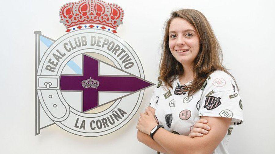 Patricia Díaz Rúa, jugadora del Deportivo de la Coruña.