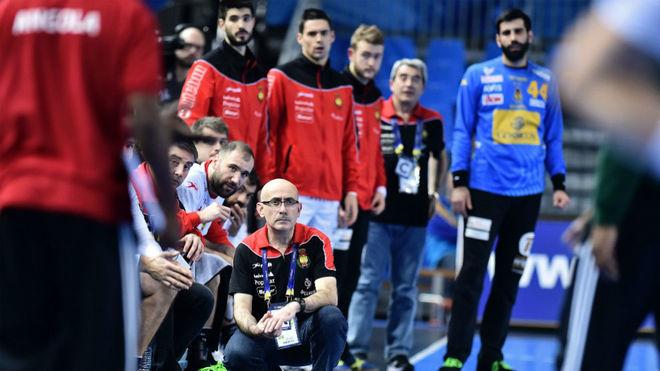 Jordi RIbera, durante un partido de la selección en el pasado...