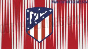 Imagen del posible diseño para la equipación del Atlético del...