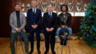 Ramos, Zidane, Florentino Pérez y Marcelo.