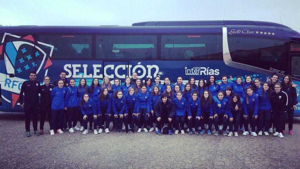Selección femenina gallega.
