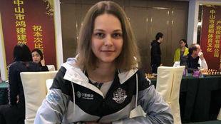 Anna Muzychuk, en una partida.