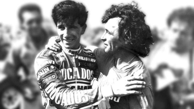 El fallecido Ángel Nieto junto a Jorge Martínez Aspar