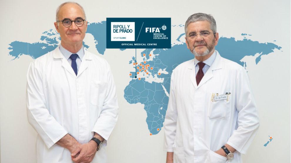 Los doctores Pedro Luis Ripoll (izquierda) y Mariano de Prado, de...