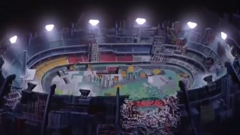 El Estadio Olímpico de Neo Tokio, listo para la batalla final, aunque...