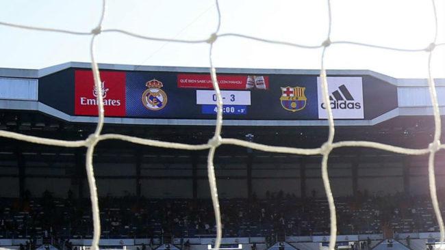 Marcador final en el Bernabéu el pasado sábado