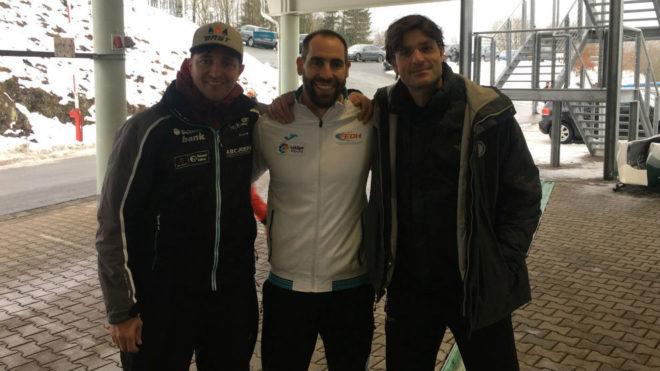 Martin Rettl, Ander Mirambell y Bernat Buscá, en la cita de la Copa...