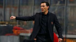 Montella, durante un partido con el Milan.
