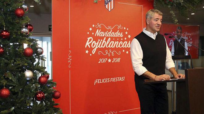 Miguel Ángel Gil Marín, en la Comida de Navidad del Atlético de...