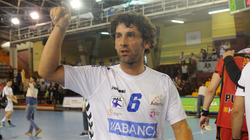 'Juanín' García tras un partido con el Ademar León / C.Hernández