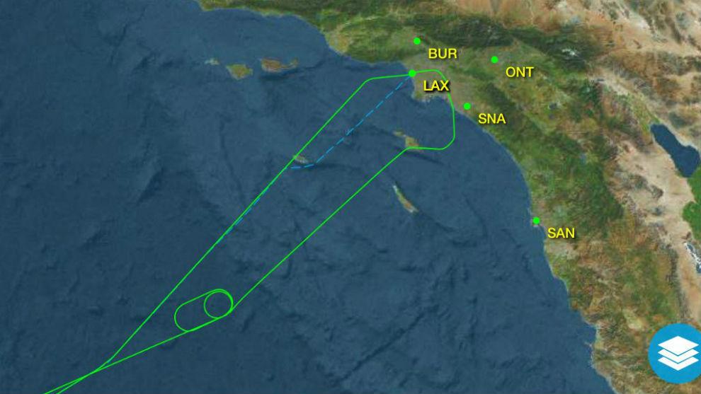 El trayecto que describió el vuelo donde iba Garbiñe