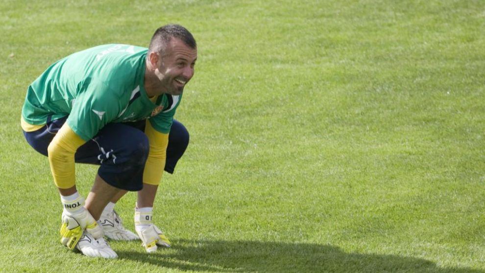 Toni Doblas (37), en su etapa como portero del Zaragoza.