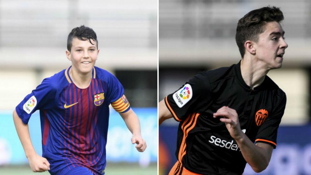 Gerard y Aarón celebran los goles anotados en semifinales.