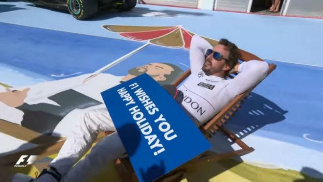 Alonso, en el GP de Hungría justo antes de las vacaciones