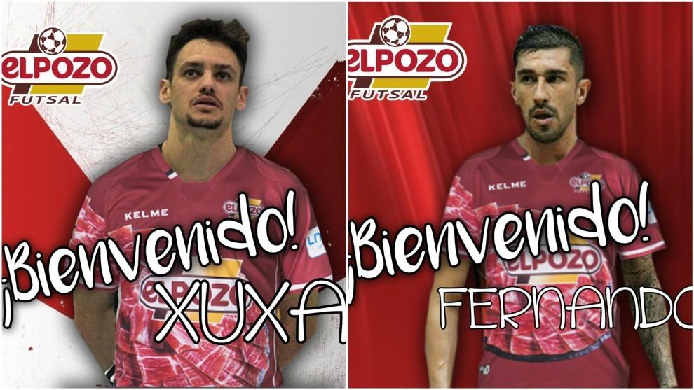 Xuxa y Fernando Drasler, nuevos jugadores de ElPozo Murcia.