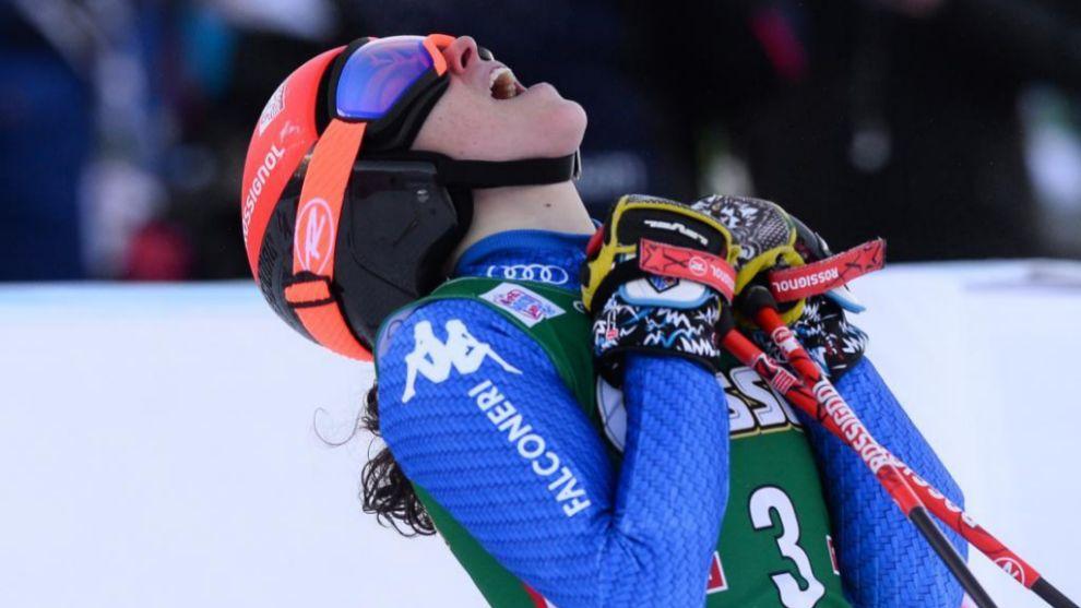 Federica Brignone celebra su primera victoria de la temporada en el...