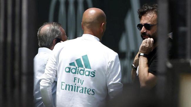 Reunión en verano entre Florentino, Zidane y José Ángel Sánchez.