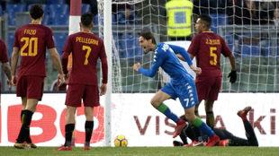 Missiroli celebra el 1-1 del Sassuolo.