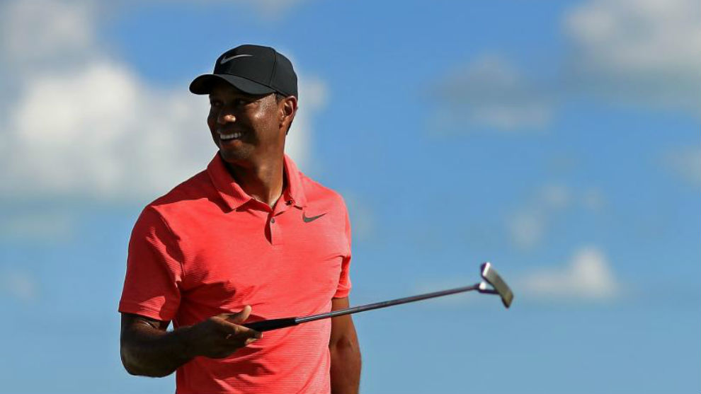 Tiger Woods, durante el Hero World Challenge.
