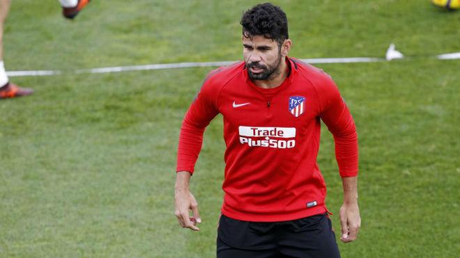 Diego Costa, en un entrenamiento.