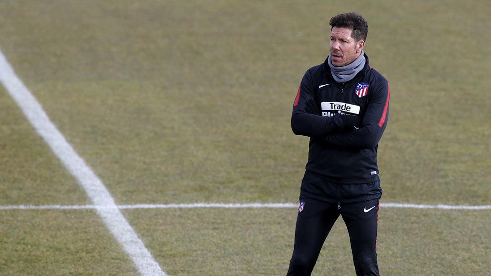 Cholo Simeone en un entrenamiento.