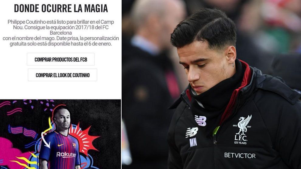 Rubí Alabama Gracias por tu ayuda  Barcelona: Nike announces the signing of Coutinho by mistake: A hack or  advance notice? | MARCA in English