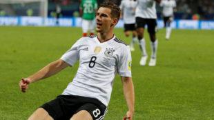Leon Goretzka con la selección alemana