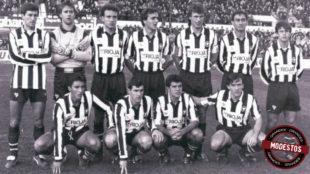 Un once del Logroñés durante aquella mágica 1990-91