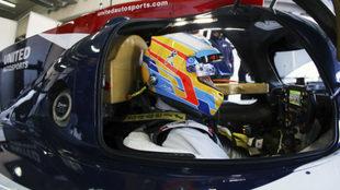 Alonso, en el test de MotorLand Aragón.