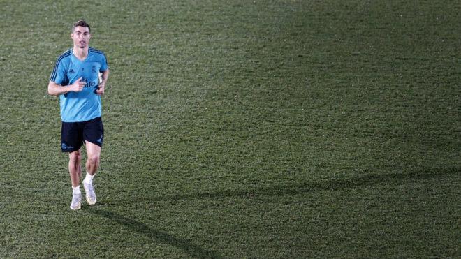 Cristiano Ronaldo, en un entrenamiento del Real Madrid