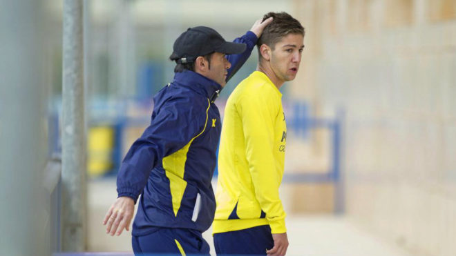 Marcelino y Vietto en su etapa en el Villarreal.
