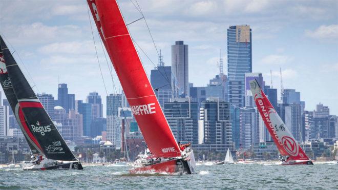 Salida de la cuarta etapa de la Volvo Ocean Race en Melbourne