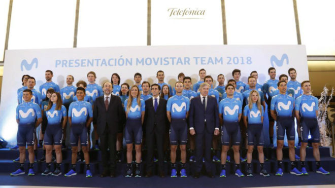Presentación del Movistar Team 2018.