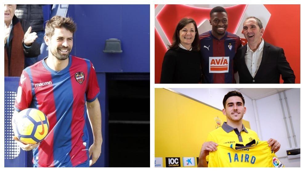 Coke al Levante; Diop al Eibar; y Jairo a Las Palmas, tres de las...