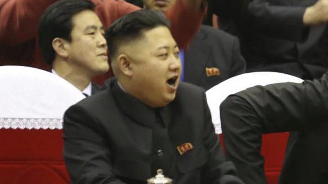 Kim Jong-Un, durante un partido de baloncesto