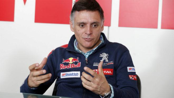 Lucas Cruz, en la redacción de MARCA.