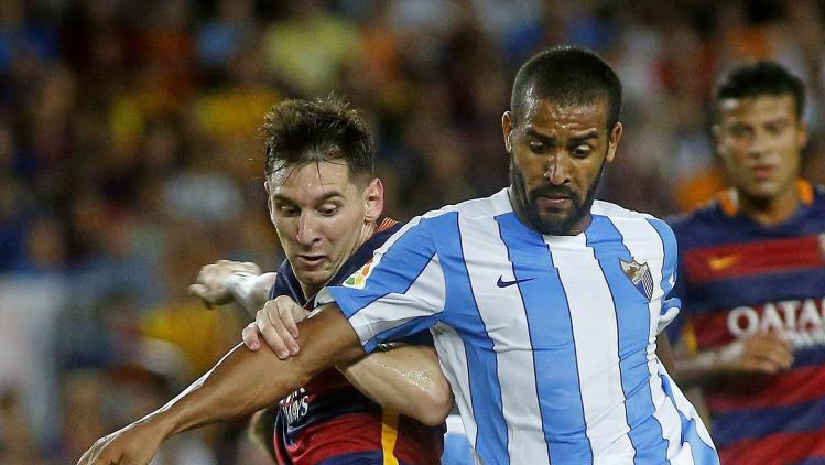 Tissone durante un partido contra el Barça