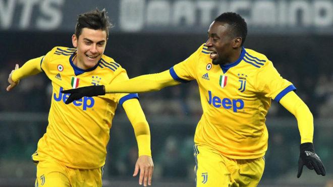 Matuidi celebra su gol al Hellas Verona.