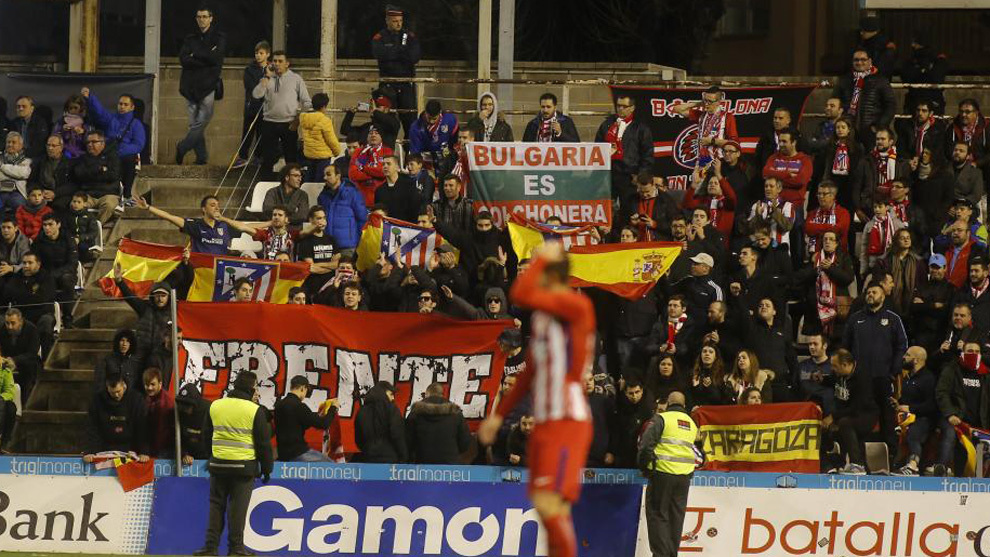 Aficionados del Atlético desplazados a Lleida