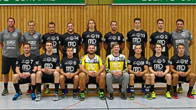 El equipo del HSG Ostsee Neustadt en el que juega el joven Yuri Knorr...