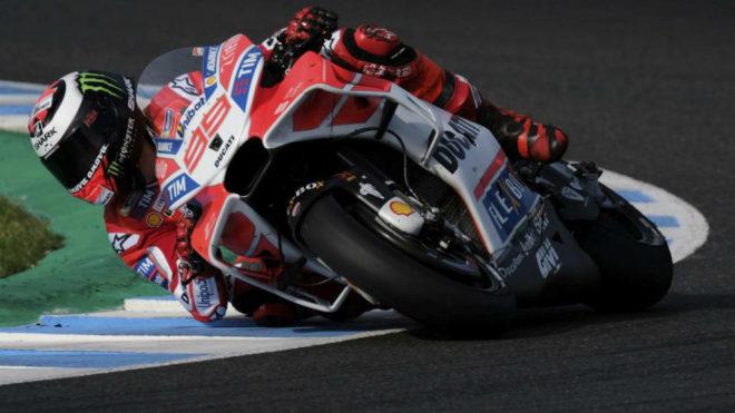 Lorenzo, en el test de Jerez.