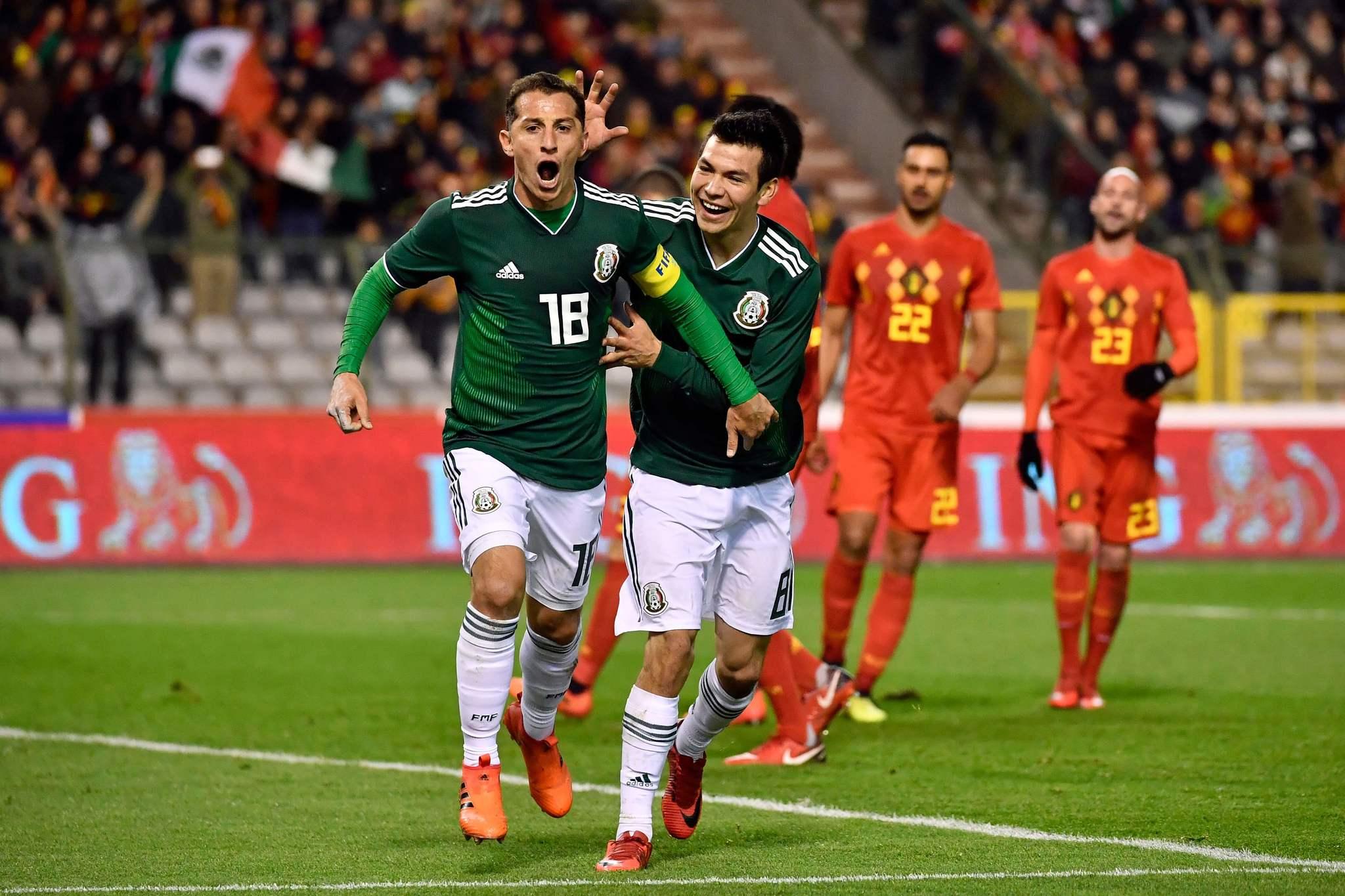 Guardado, celebrando un gol con México / Dirk Waem | AFP