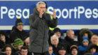Mourinho, ante el Everton.