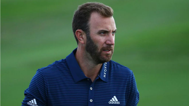 Dustin Johnson entrenando en Hawai para el Sentry TOC.